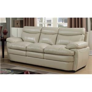 Elements International UWL3 Leather Sofa