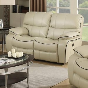 Elements International Vino Power Reclining Loveseat