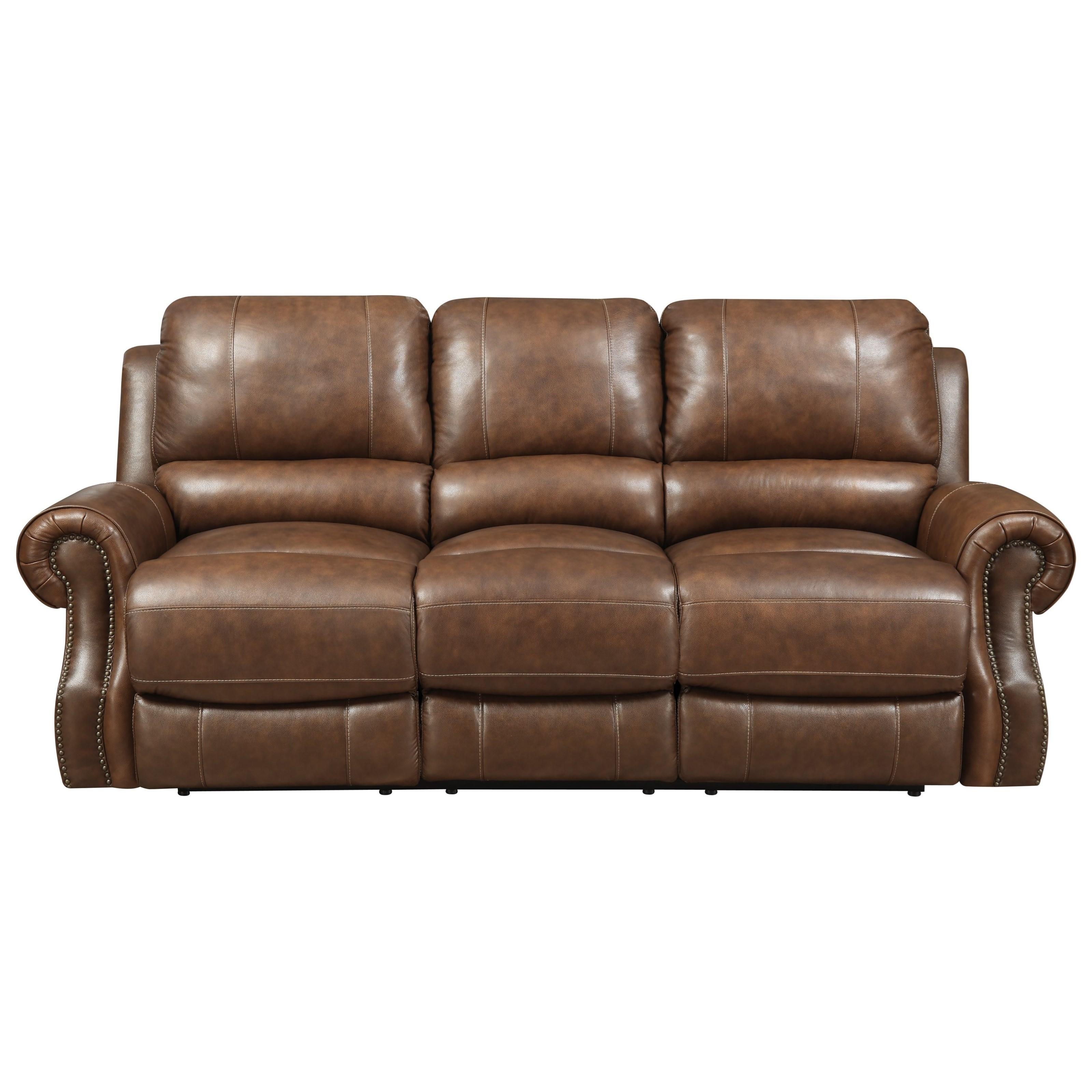 Elements International Walker Power Motion Sofa - Item Number: UWKxx305P-Saddle