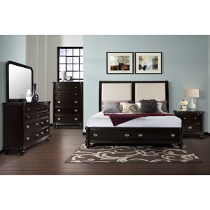 Elements International Westbury King Bedroom Group