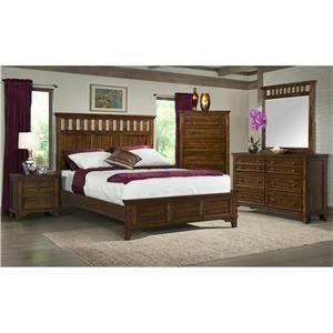 Elements International Woodlands 4-Piece Queen Bedroom Group