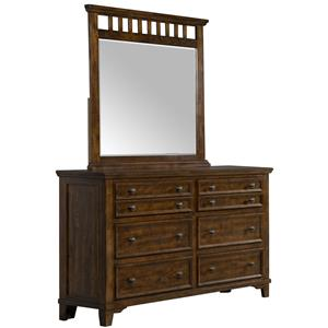 Elements International Woodlands Dresser and Mirror
