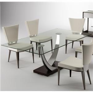 Elite Modern Dining Tangent Gl Top Table