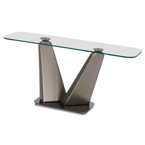 Elite Modern Vibe Console Table with Metal Base