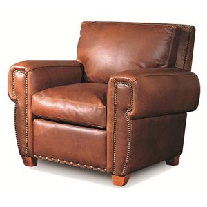 Elite Leather Denver Traditional Leather Chair with Contemporary Furniture Elements