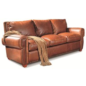 Elite Leather Denver Large Sofa With Elegant Country Style