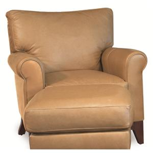 Camden Transitional Stationary Leather Upholstered Chair by Elite Leather