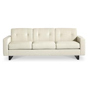 Hillcrest Contemporary Leather Sofa with Tufted Back by Elite Leather