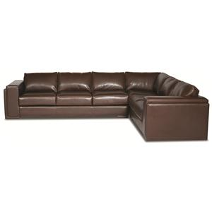 Elite Leather Milan  Sectional Sofa