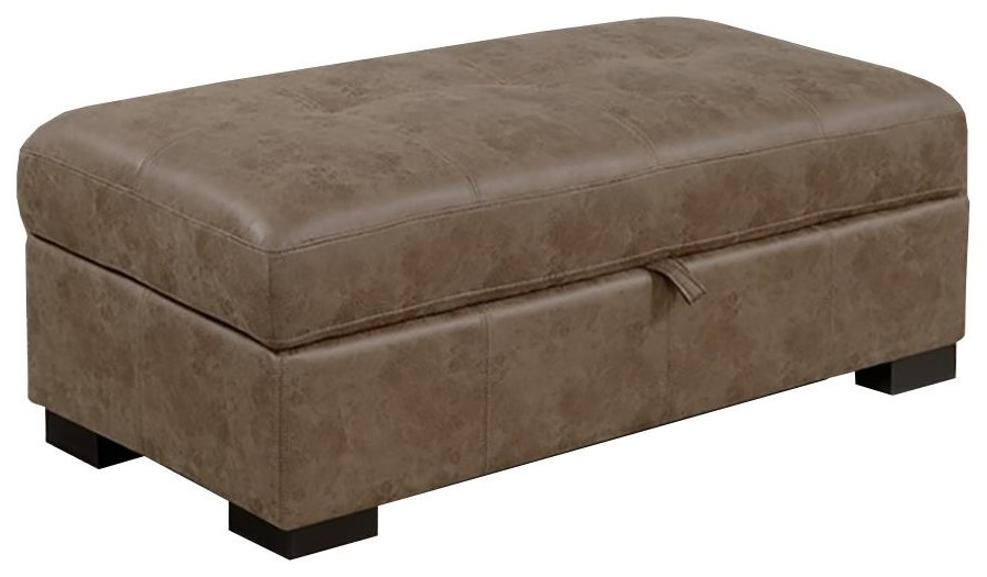 20888 Storage Ottoman-Sandstone at Sadler's Home Furnishings