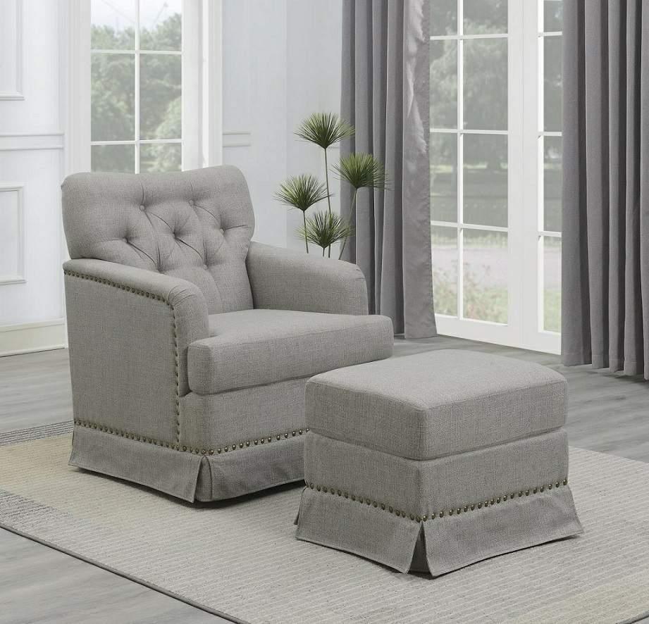 Swivel Glider Chair and Ottoman Set