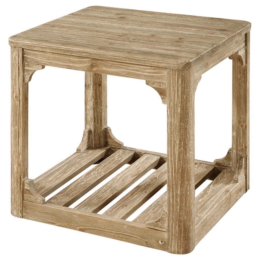 End Table W/Bottom Slat Shelf
