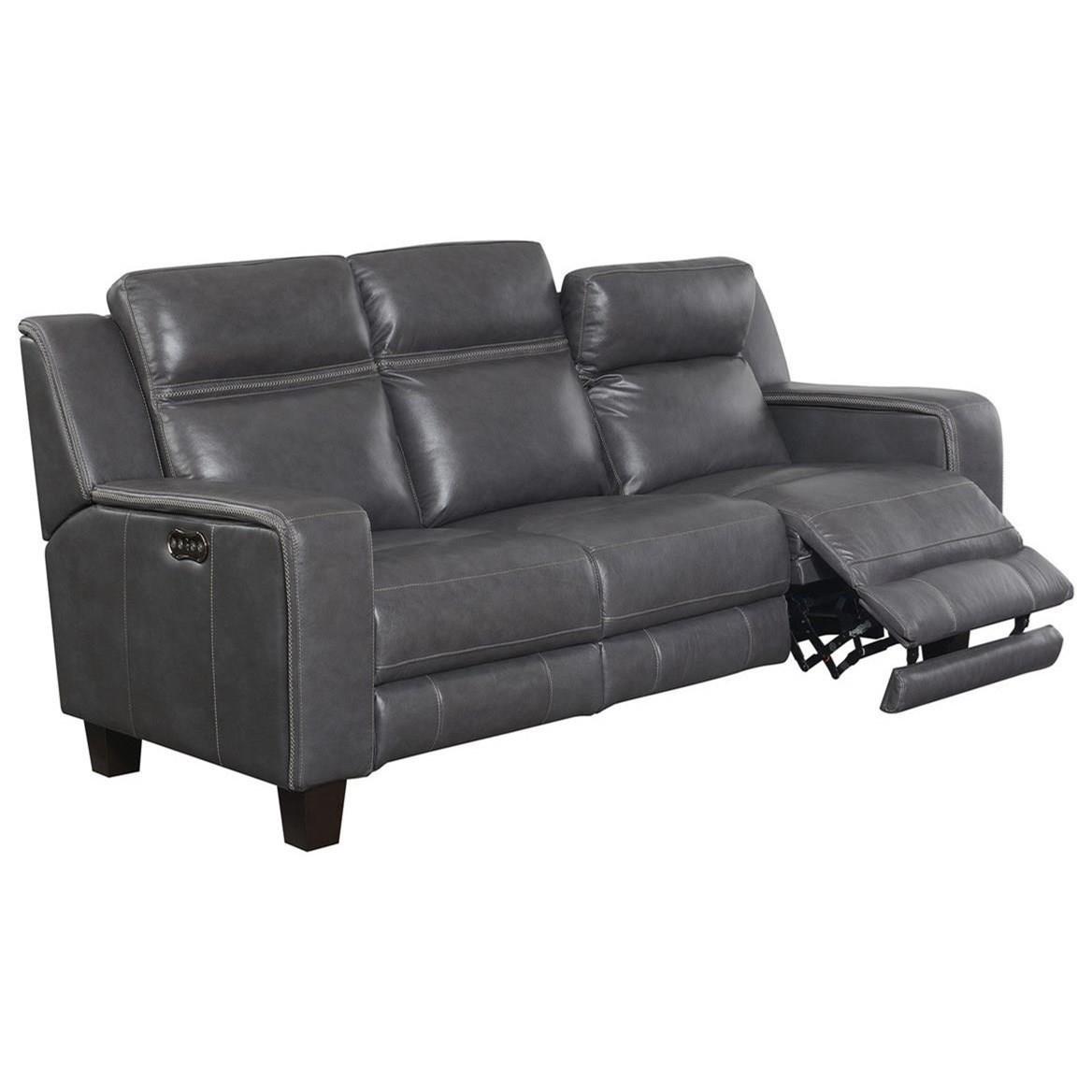 Beckett Power Sofa W/2 Power Headrests by Emerald at Northeast Factory Direct