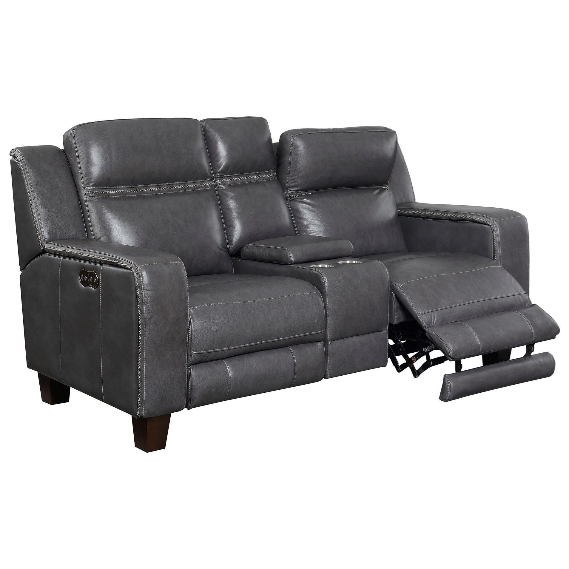 Power Console Loveseat W/2 Power Headrests