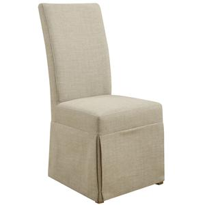 Emerald Belair Parsons Chair with Slipcover