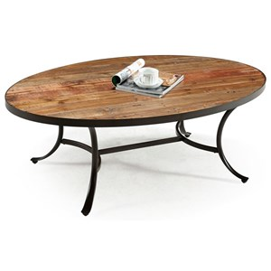 Emerald Berkeley Oval Cocktail Table