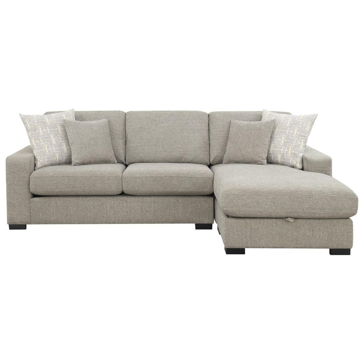 3-Seat Chaise Sectional w/ Storage