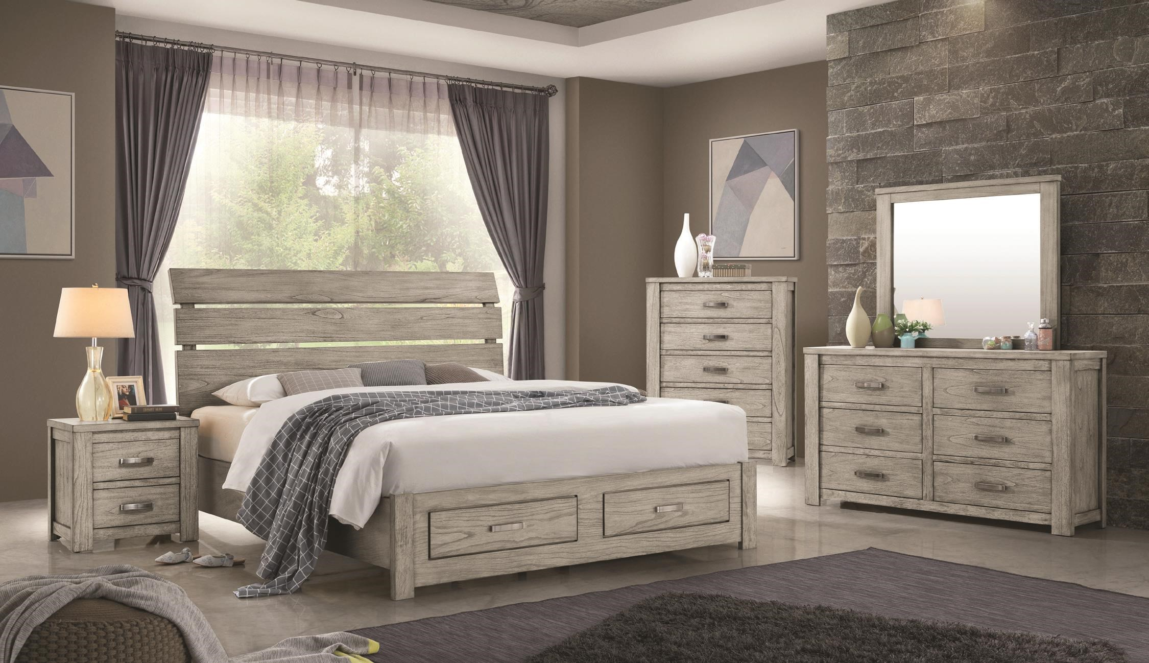 Brentwood Queen Size Storage Bed by Emerald at Darvin Furniture