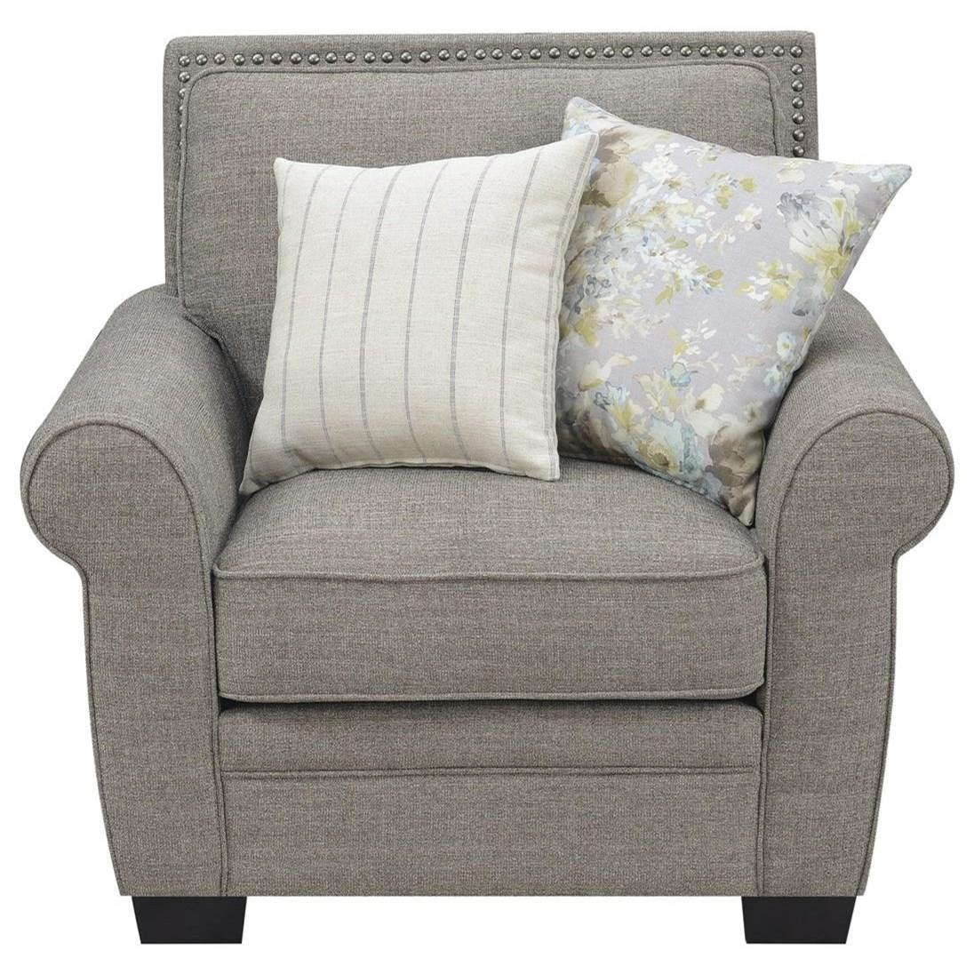 Chair W/2 Accent Pillows