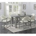 Emerald Carrera 7-Piece Counter Height Dining Set - Item Number: D905-13+6X24
