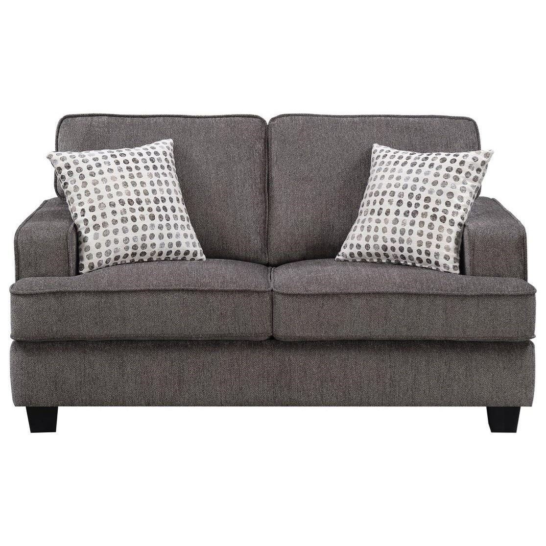 Loveseat W/2 Accent Pillows