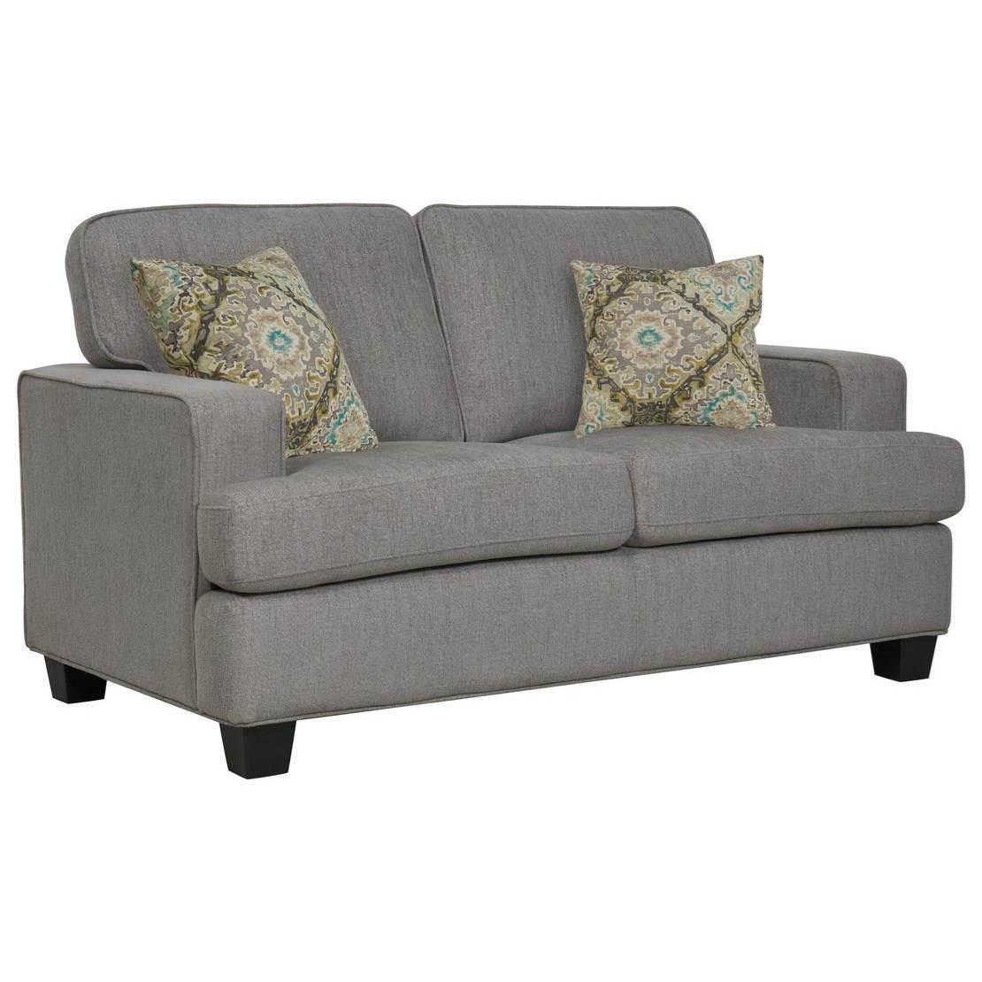 Carter Loveseat W/2 Accent Pillows by Emerald at Northeast Factory Direct
