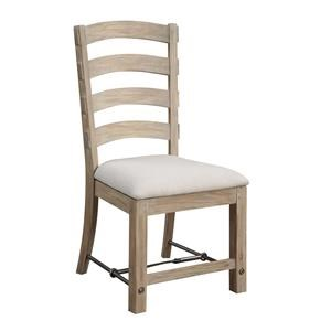 Emerald Castle Bay Ladderback Side Chair with Upholstered Seat