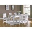 Emerald Centerville 7-Piece Dining Set - Item Number: D719-10+4x20+2x22