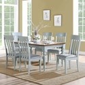Emerald Cliff Haven 7-Piece Dining Table and Chair Set - Item Number: D494-10+3x20