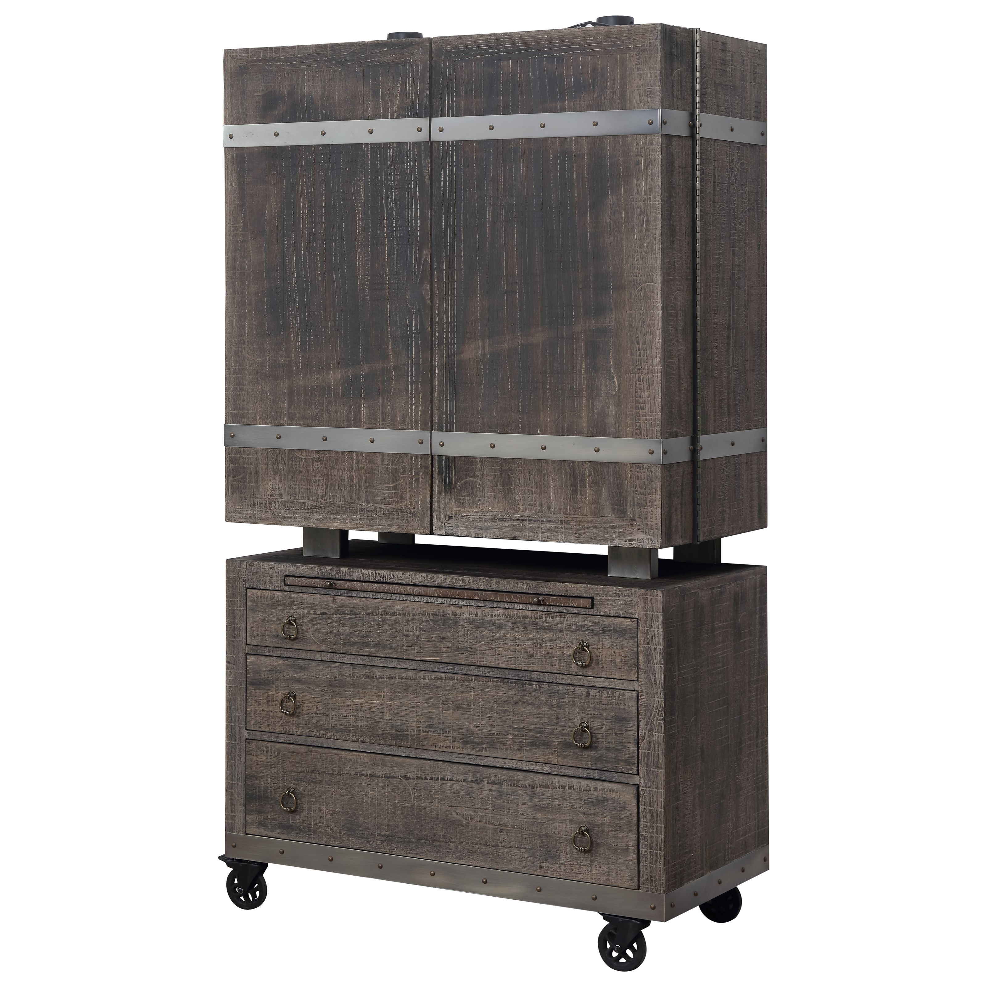 Bar Cabinet with Casters