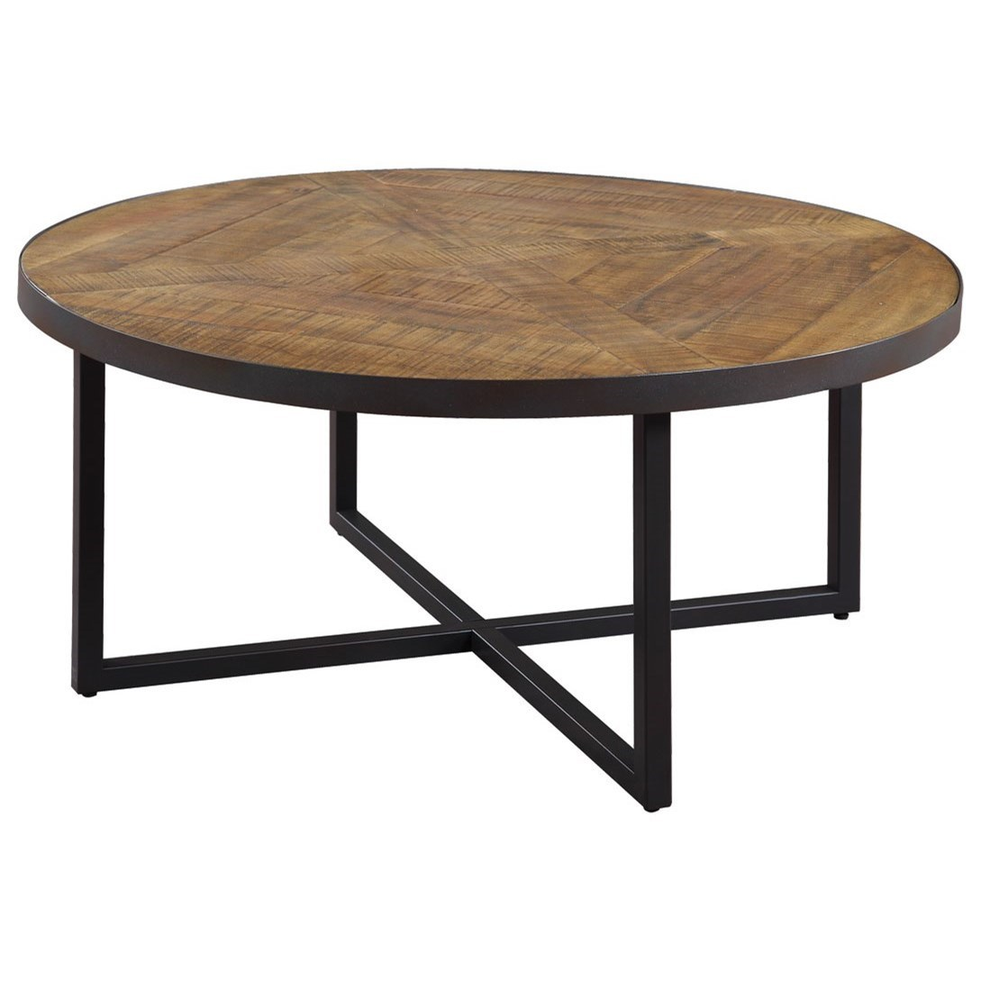 Emerald Denton Round Cocktail Table With Metal Base Rife 39 S Home Furniture Cocktail Coffee Tables