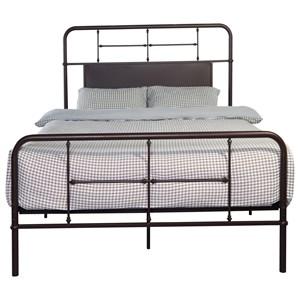 Emerald Fairfield Queen Metal Bed - B202-10HBFBRDKBRN