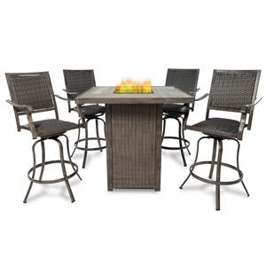 5PC Outdoor Firepit Table Set