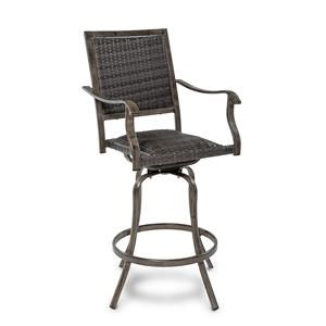 Outdoor Wicker Barstool