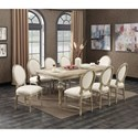 Emerald Interlude 9 Pc Table Set - Item Number: D560-10-K+8xD560-20