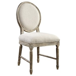 Emerald Interlude Side Chair with Upholstered Seat
