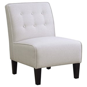 Jena Accent Chair with Button Tufted Back by Emerald