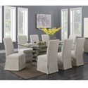 Emerald Jenga 9-Piece Dining Table and Chair Set - Item Number: D833-15-K+8xD350-22
