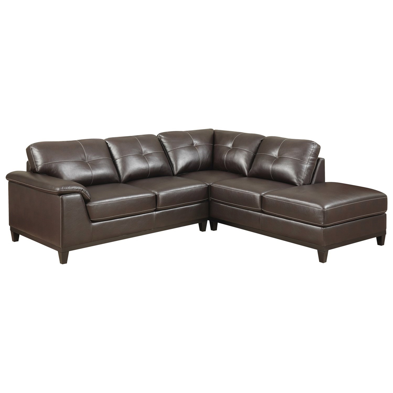 Emerald marquis 2 piece sectional set with tufting rife for Albany st germain sectional sofa chaise