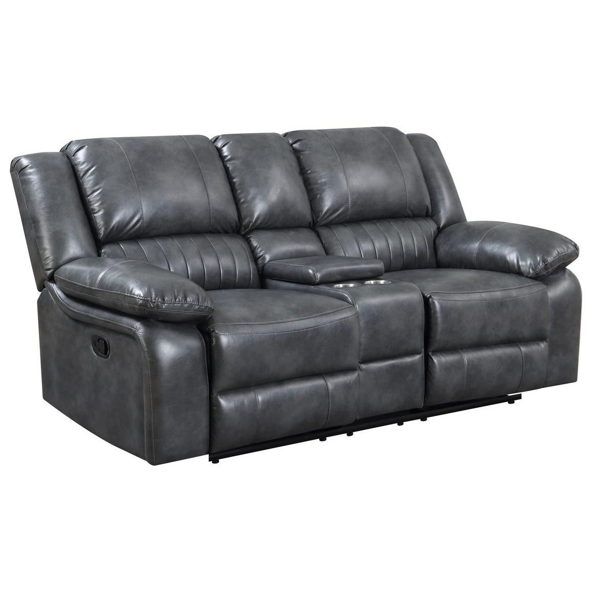 Navaro Reclining Console Loveseat by Emerald at Wilson's Furniture