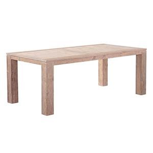 RECTANGULAR WEATHERED TEAK DINING TABLE