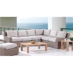 Emerald Outdoor Furniture Wicker Sectional