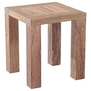 Emerald Reims Weathered Teak Side Table