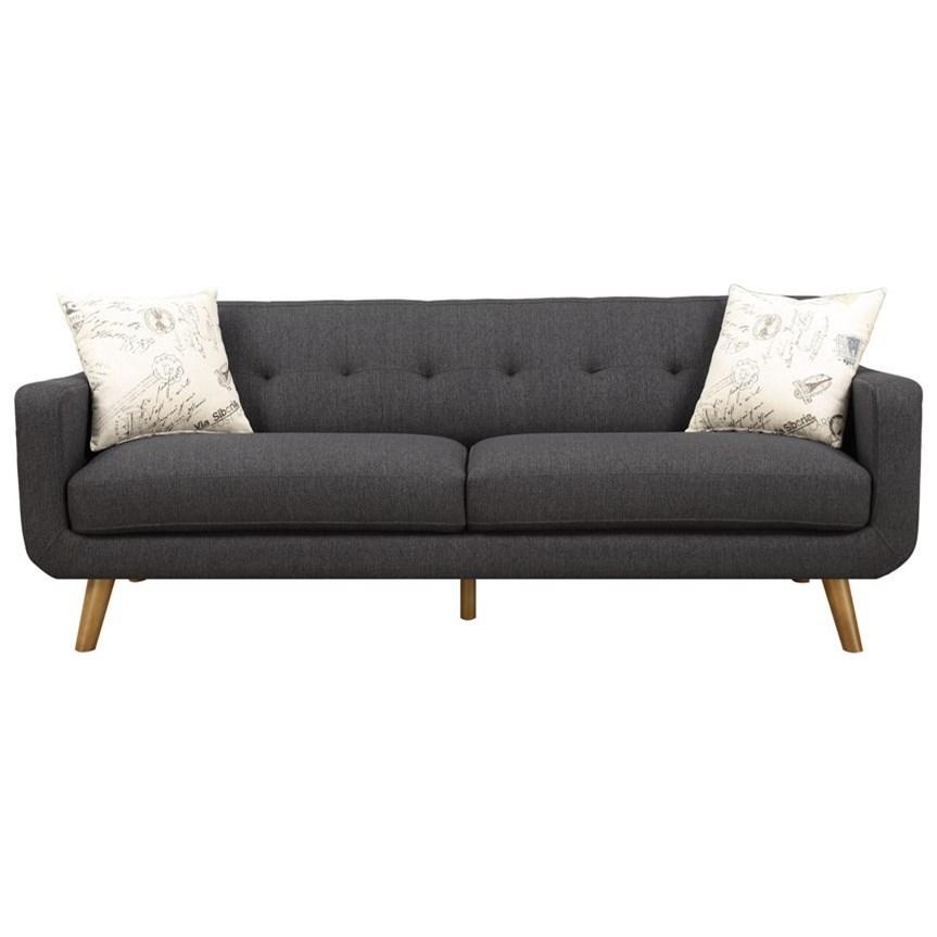 Emerald Remix Sofa with 2 Accent Pillows - Item Number: U3789-00-13