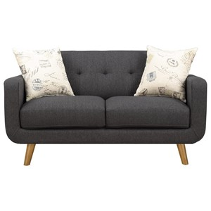 Emerald Remix Loveseat with 2 Accent Pillows
