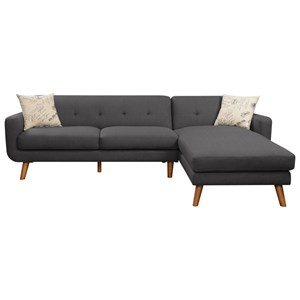 Emerald Remix Sectional with Chaise