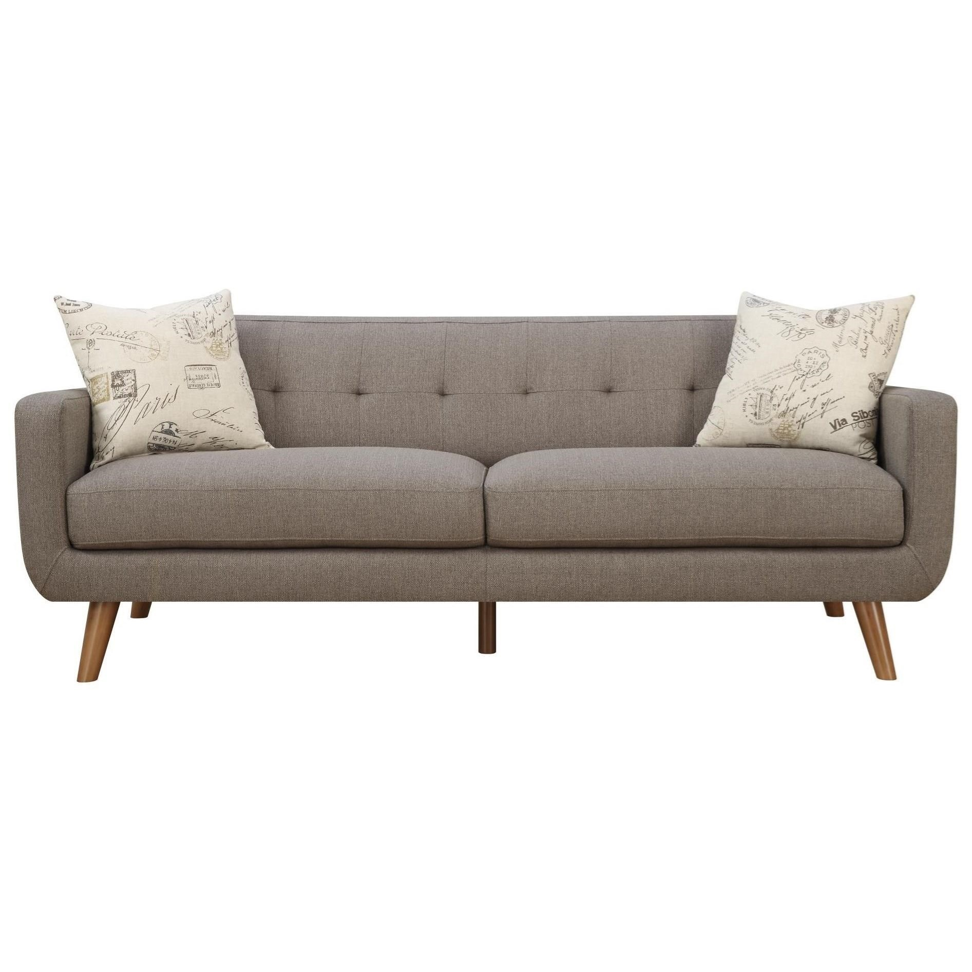 Home furniture sofa - Emerald Remix Sofa With 2 Accent Pillows