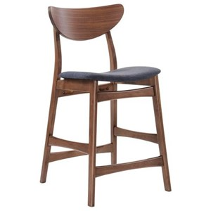 Emerald Simplicity Barstool with Upholstered Seat