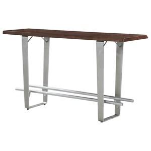 Pub Table w/ Live Edge Solid Mahogany Top