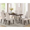 Emerald Sommerville 7-Piece Dining Table Set - Item Number: D205-15+6x22